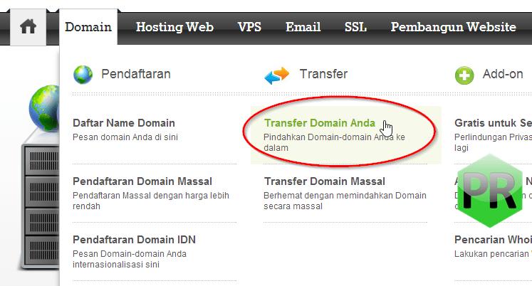 Cara transfer nama domain ResellerClub