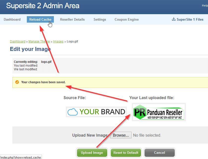 cara merubah logo header supersite dengan custom logo