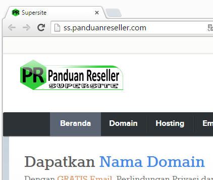 supersite dengan custom favicon